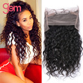 Peruvian Water Wave 360 Lace Frontal Bleached Knots Peruvian Virgin Hair Lace Front Wigs 360 Lace Frontal Water Wave Human Hair