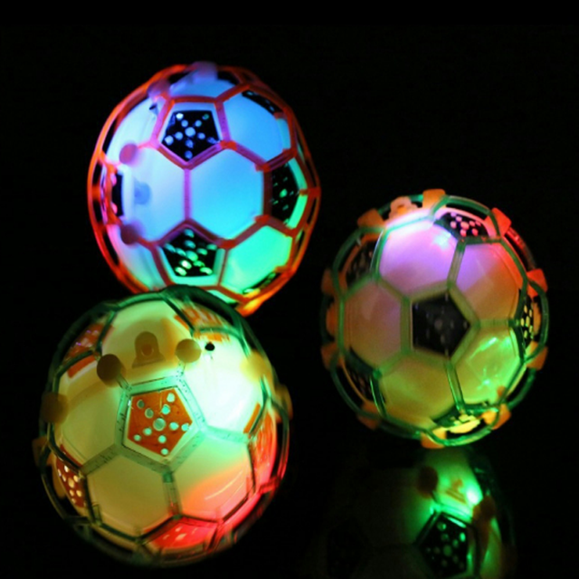 1 Pcs New  LED Light Jumping Ball Kids Crazy Music Football Children's Funny Toy