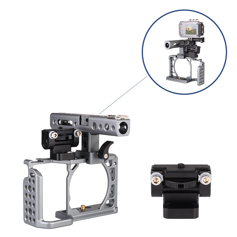 Camera Cage Rig Monitor Holder Mount Bracket Universal Video Light Adjustable Anti-Twist 180 Degree Tilt Pan Magic Arm Stand