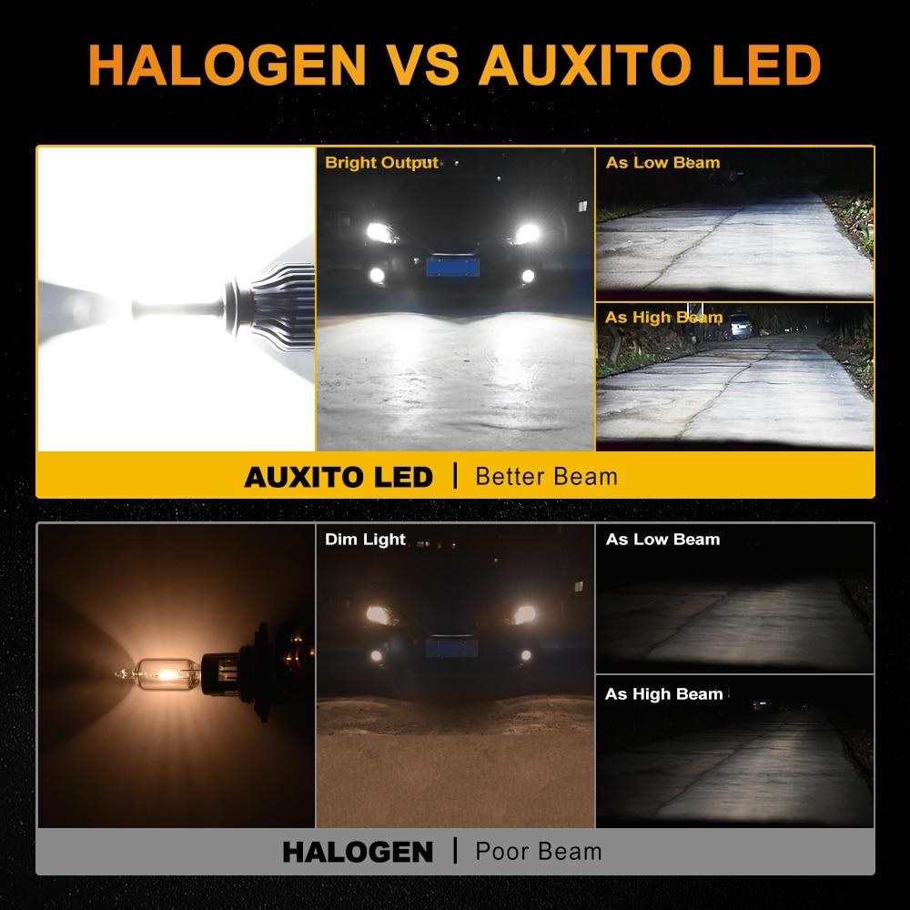 2PCS H7 LED HIR2 9012 Car Headlight Lamp H4 H11 H8 H9 9005 HB3 9006 HB4 96W  10800LM High Low Beam Fog Light Bulb Headlamp