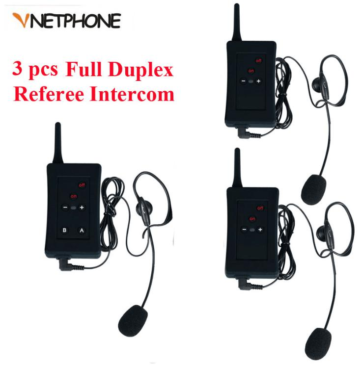 3 pcs Latest EJEAS Brand Football Soccer Referee Intercom Motorbike Intercom Full Duplex Bluetooth Referee Headset