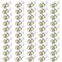 50 teile/satz T10 W5W 168 194 5050 5 SMD LED Auto Keil breite Weiße Lampe Armaturenbrett Messer Kennzeichenbeleuchtung