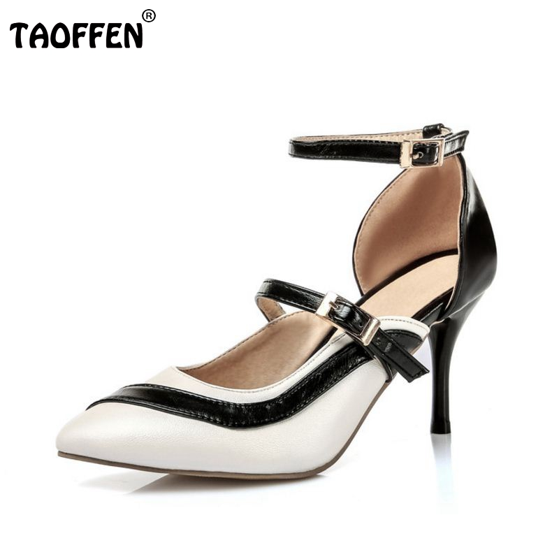 size 30-48 thin high heel mixed color women sandals pointed toe sexy party woman ankle strap heeled footwear heels shoes P23494 new arrival black brown leather summer ankle strappy women sandals t strap high thin heels sexy party platfrom shoes woman