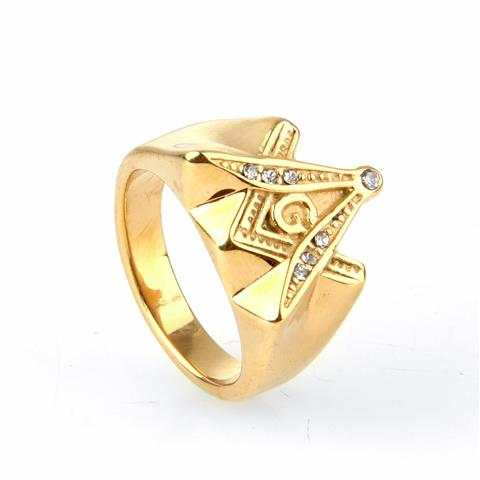 US $9 9 |freemason wedding ring symbols value celebrity freemason skull  signet ring freemason ring symbol meaning old gold-in Rings from Jewelry &