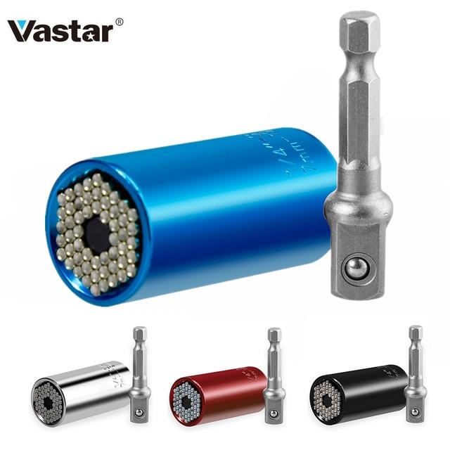 Vastar Universal Torque Wrench Head Set Socket Sleeve 7 19mm Power Drill Ratchet Bushing Spanner Key Magic Grip Multi Hand Tools