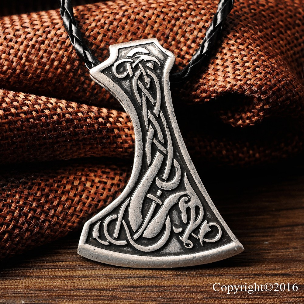 ツ)_/¯1pcs Amulet Pendant Necklace Legendary Viking Axe Pendant