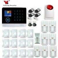 Yobang безопасности 3G SMS Главная охранной Системы WI FI приложение Управление alarmes Pet извещатель двери, окна Сенсор Наборы