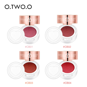Image 2 - O.TWO.O Air Cushion Blusher Folding Heart Shape Shimmer Blush Rouge 4 Colors Easy To Wear Natural Face Contour Make Up