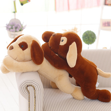 70cm 2017 New Creative Dog plush Toys Lying On Front Dog Cloth doll brown yellow birthday
