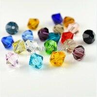 2015 mới miễn phí vận chuyển bán buôn hạng AAA 3mm 4mm Glass Beads Tinh Bicone 1000 pcs/lote hỗn hợp Colors DIY Jewelry Making hạt