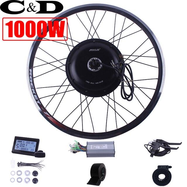 48 V 1000 W E-rower elektryczny zestaw zestaw do konwersji roweru XF39 XF40 30 H Driect napęd silnik zestaw MXUS marka wyświetlacz LED LCD piasta tylna