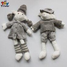 ГОРЯЧАЯ 32 см Овец Ягненка Куклы Ручной Вязки Игрушки Мягкие Игрушки Куклы для Детей Куклы и Мягкие Игрушки Кореи Япония Стиль бесплатная доставка