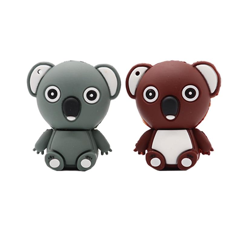 usb flash drive dibujos Silicone Koala style pen drive 32GB 64GB 128GB flash disk pen drive 64gb com frete gratis cle usb Price $4.80