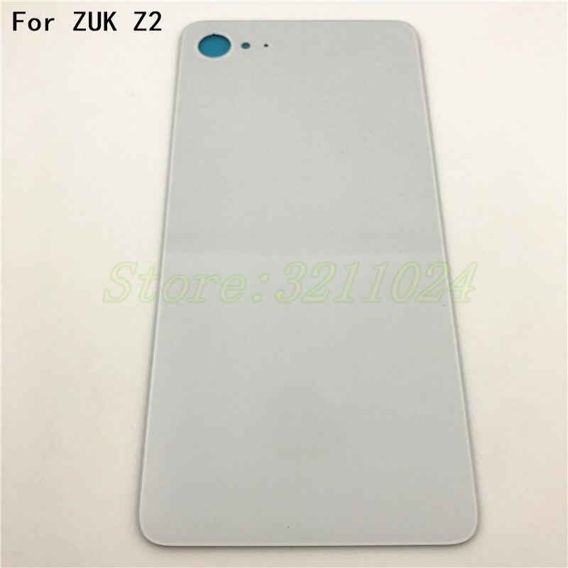 Glass Battery Back Cover With Logo For Lenovo ZUK Z2 housing Back Door Cover Cases+Adhesive Strips black white