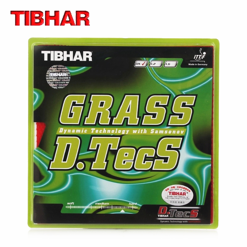 TIBHAR  Table Tennis Rubber GRASS D.TECS OX Without Sponge Pips-long Defensive Ping Pong Tenis De Mesa