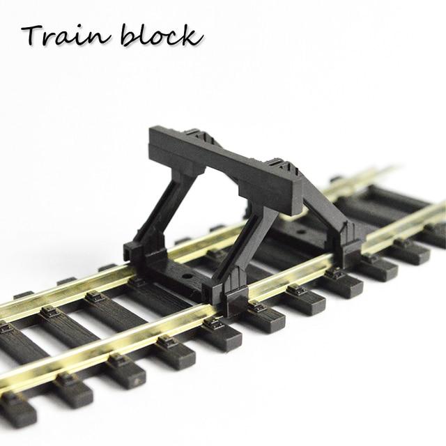 2pc列車モデルトラックアクセサリーhoスケール55280バッファポンプにブロック道路抵抗バッファ1:87