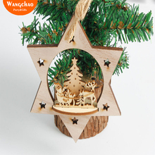 5pcs/bag Natal Wooden Christmas Tree Decorations Ornaments For Home Xmas Decor New Year Deals