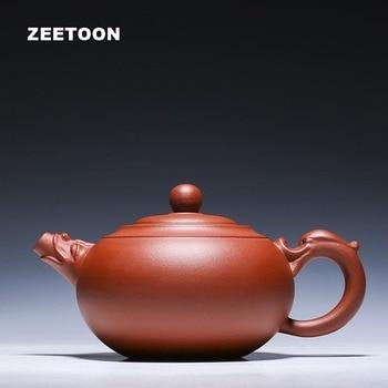 400ml Authentic Yixing Teapot Dragon Leading Wishful Pot Master Handmade Zisha Tea Set Chinese Healthy Purple Clay Ruyi Tea Pots
