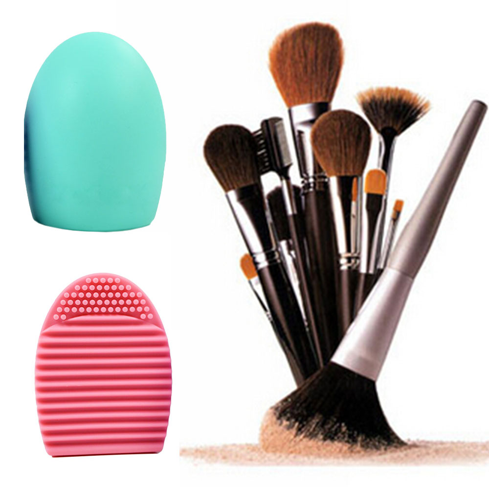 Silicone Makeup Brush Cleaning Washing Tools Cosmetics Makeup Brushes Scrubber Board Washing ...