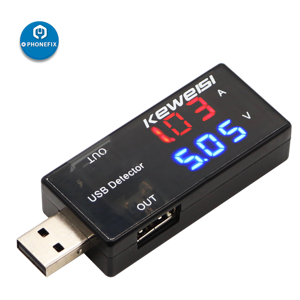 Dual Out USB Power Meter Testers Mobile Power Charging Voltage Current Voltmeter Amp Volt Ammeter Detector USB Charger Indicator