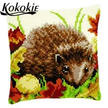 Cross stitch kits fabric embroidery cushion cover kits pillo