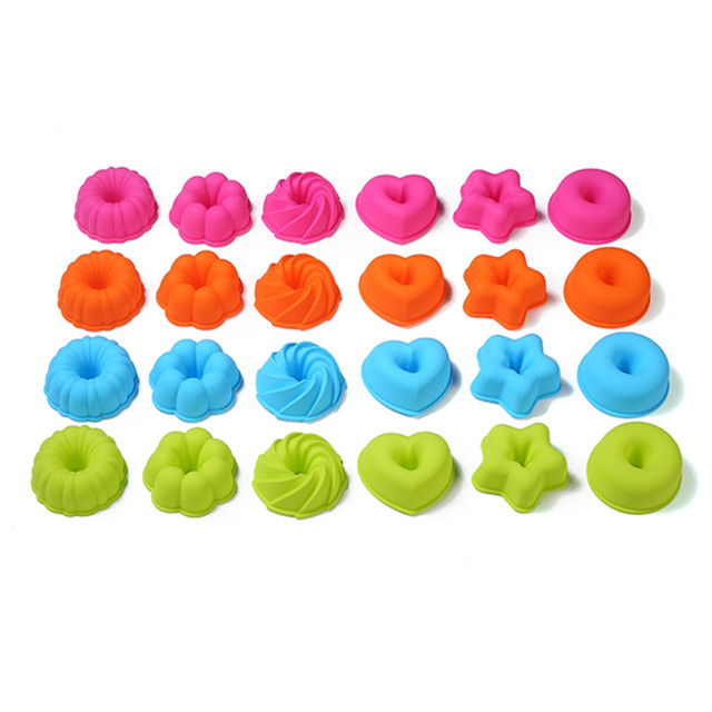 12 PCS/Lot Pumpkin Round Shape 3D Cake Cup Silicone 36pcs Muffin Cupcake Mold 24pcs Doughnuts Pans Baking Tools For Bakeware 4