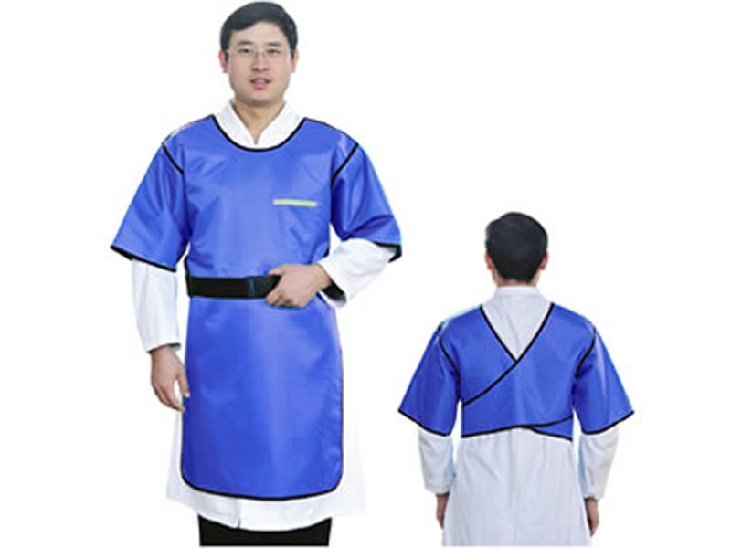 A buon mercato 0.5 mmpb Piombo abbigliamento in gomma, x-ray protezione vestiti manica corta, Chirurgia anti-dressing grembiule.