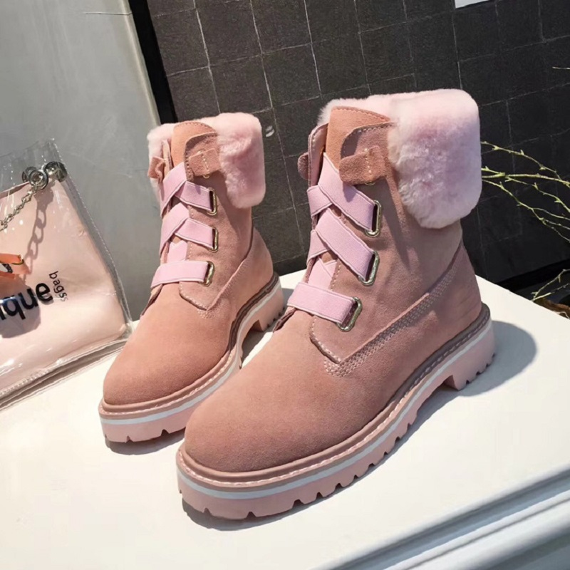 Winter New Women's Fashion Casual Thick-bottom Round Head European And American Popular Fur One Snow Warm Women's Shoes цена 2017