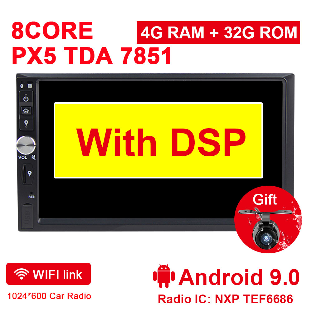 US $170 17 23% OFF|Eunavi 2 Din 7'' Octa core Universal Android 9 0 4GB RAM  Car Radio Stereo GPS Navigation WiFi 1024*600 Touch Screen 2din Car PC-in