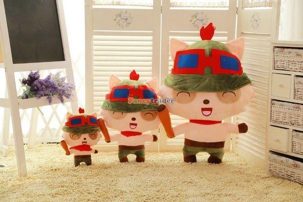 Fancytrader 33\'\' 85cm Super Cute Soft Plush Biggest LOL Teemo Toy, Free Shipping FT50149 (5)