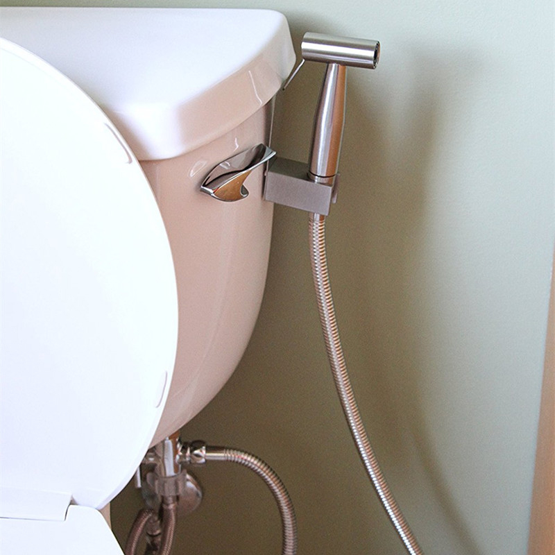 Rociador de Ducha de bid/é Ajustable para ba/ño Plata rociador higi/énico de Boquilla de Limpieza Vobor Rociador de bid/é de Mano para Inodoro