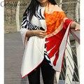 Bufandas Beige Silk Scarf For Ladies 2016 New Design 100% Pure Silk Scarves Wraps 130*130CM Zebra Horse Print Women Long Scarves