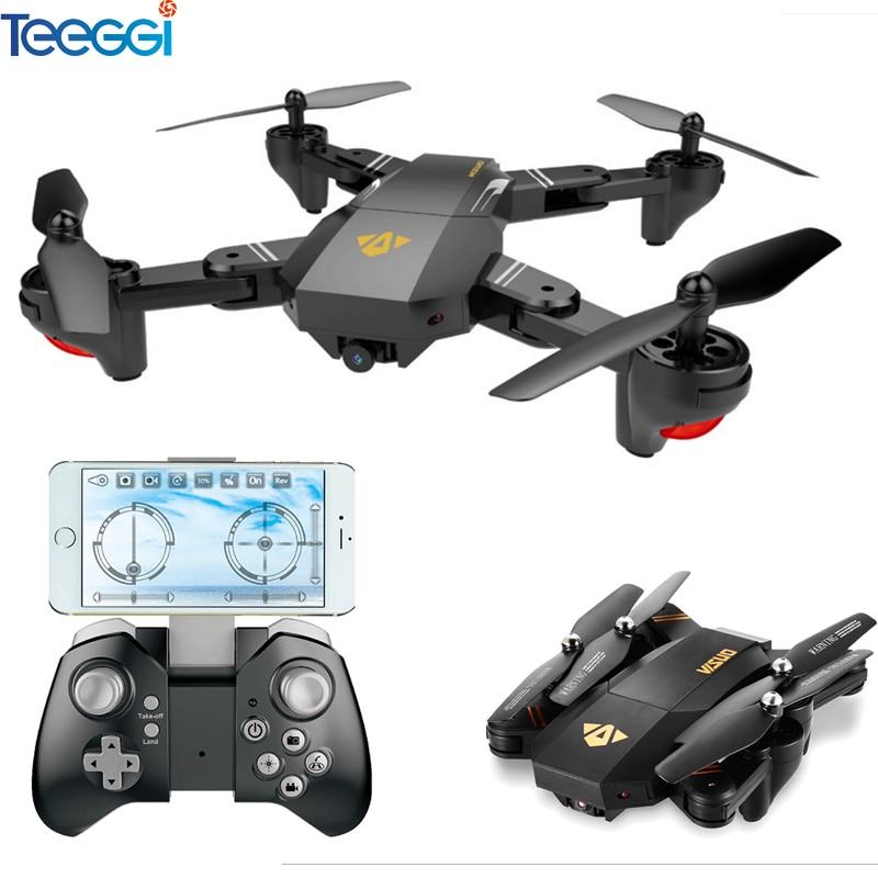 VISUO Xs809HW Xs809W Dobrável Zangão com Câmera HD 2MP Altitude Hold Grande Angular WI-FI FPV RC Quadcopter Helicóptero VS H47 dron