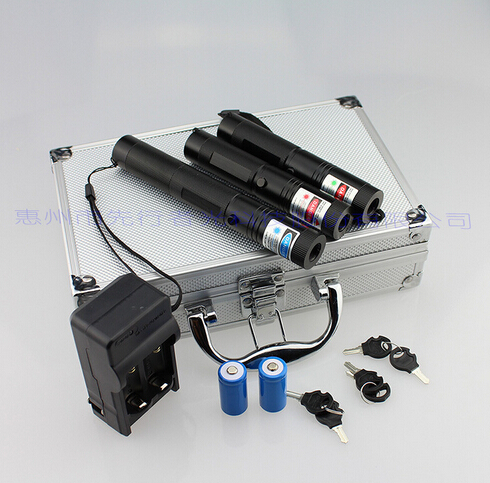 RGB301 metal cased 3 in 1 focusable BURNING laser kit with 200000mw blue laser pointer light cigars with green red laser pen
