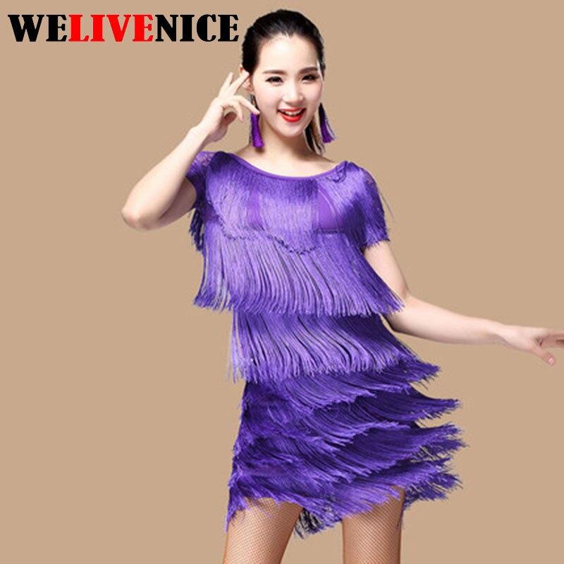 Femmes danse latine robe femmes salle de bal danse robes danse latine Costume danse latine robes Tango robe Samba jupes #6239