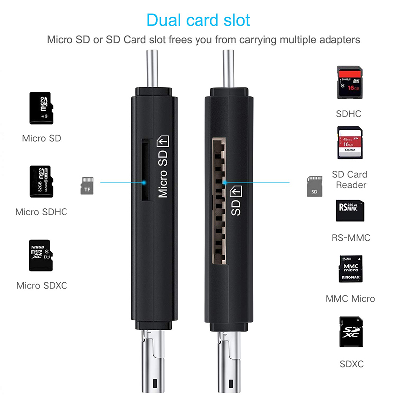 Image 2 - SD Card Reader USB 3.0 Card Reader USB C 3.0/2.0 TF/Mirco SD Smart Memory Card Reader Type C OTG Flash Drive Cardreader Adapter-in Card Readers from Computer & Office