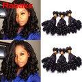 7A Grade 3 Bundles Aunty Funmi Hair Bouncy Curly Brazilian Virgin Hair Unprocessed Brazilian Curly Funmi Hair Weave Rose Curl