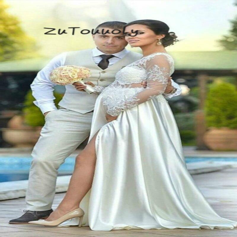 Ivory Boho Wedding Dress Pregnant For Baby Shower Modern Silk