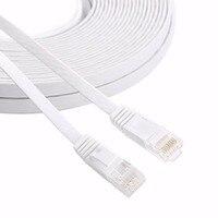20 M dây đồng Nguyên Chất CAT6 UTP Flat Mạng Ethernet Cable RJ45 LAN Vá cable màu trắng
