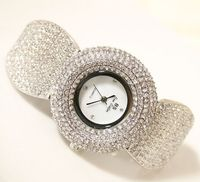 Luxury Women Watch Lady Dress Watch Rhinestone Full Crystal Bangle Watches Famale New Year Gift
