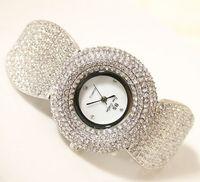 Luxury Women Watch Lady Dress Watch Rhinestone Full Crystal Bangle Watches Famale New Year Gift