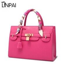 LINPAI New Brand Women Shoulder Bag Handbag Tote Platinum Cross Pattern Satchel Bags Messenger Crossbody Bag Bolsa Feminina