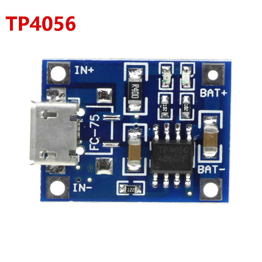 TP 4056 Led IC Micro USB 5V 1A 18650 TP4056 Lithium Battery Charger Module Charging Board With Protection Dual Functions
