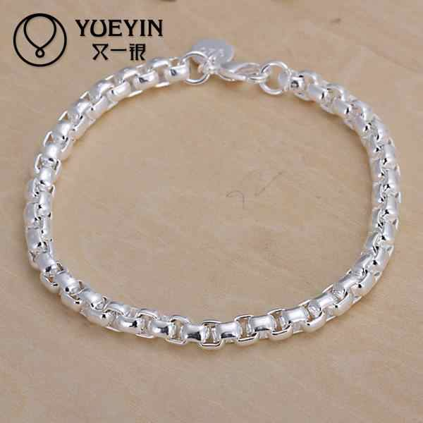Fashion Style Wholesale Silver Plated Lock Chain Charm Bracelet Jewelry Fashion Women