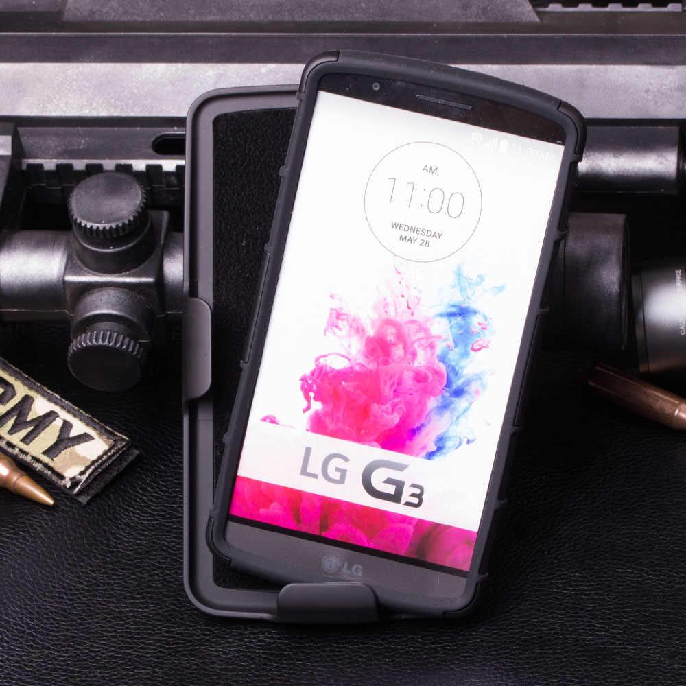 שריון מקרה עבור LG G2 G3 G4 G5 Stylus מיני ליאון V10 K7 פרו לייט רוח C70 מקרה חגורת קליפ נרתיק Stand קשיח טלפון מקרה Fundas