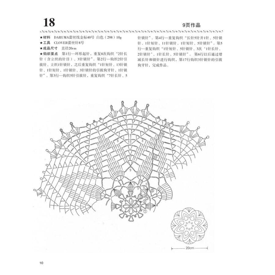 Libro de patrones de ganchillo de encaje de lujo para Mantel y cojín ...