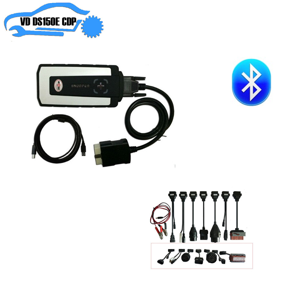 Wow snooper cdp mit 5,008 R2 keygen nec relais bluetooth cdp pro plus + 8 stücke vollen satz auto kabel für delphis vd ds150e cdp