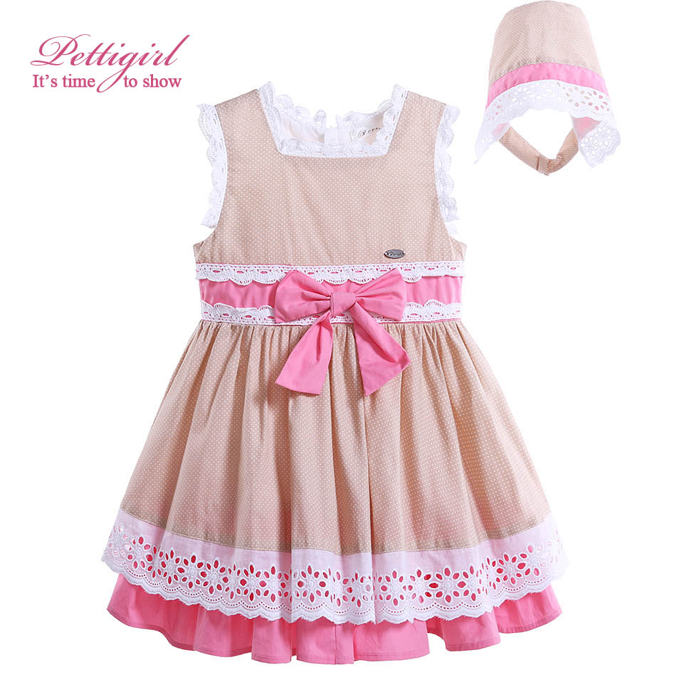 64deb721b445 Pettigirl Baby Girl Dress Summer New Arrival Infant Childrens Dresses Bow Toddlers  Clothes Boutique G-DMGD906-798