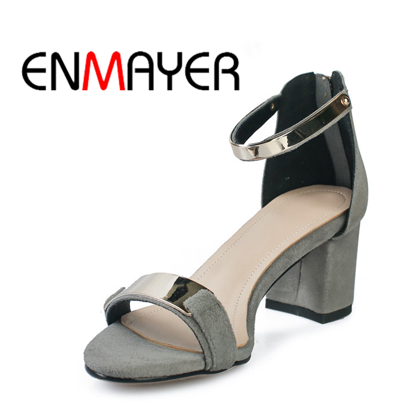 ENMAYER Heeled Sandal Cool Shoes Spring Summer Woman Kid Casual WHY20 Suede High-Quality