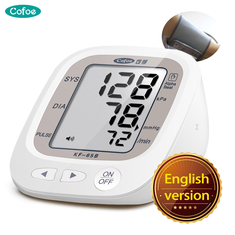Cofoe Upper Arm Blood Pressure Monitors Device Arterial Pulse Meters Gauge Tonometer Sphygmomanometer for Child&Adult Cofoe Upper Arm Blood Pressure Monitors Device Arterial Pulse Meters Gauge Tonometer Sphygmomanometer for Child&Adult
